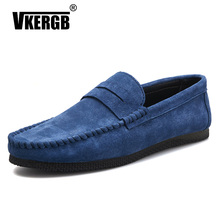 New Luxury Designer Genuine Leather Men Casual Shoes Loafer Fashion Comfort Driving Peas Walking Flats Mocassin homme
