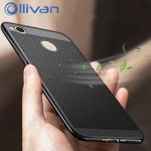 OLLIVAN Heat dissipation Cover For Xiaomi Redmi 4X Case Shockproof Scrub Hard PC Plastic Case For Xiaomi Redmi 4 X Full Fundas