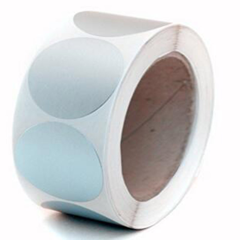 """2""""Paper Round Metallic Silver Color Code Dot Sticker Packaging Labels Permanent Adhesive Write On Surface 500/Roll"""