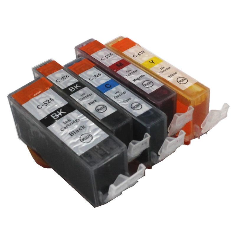 15pcs  PGI 525 CLI 526  ink cartridge For canon PIXMA IP4850 IP4950 IX6550 MG5150 MG5250 MG5350 MX715 MX885 MX895 printer