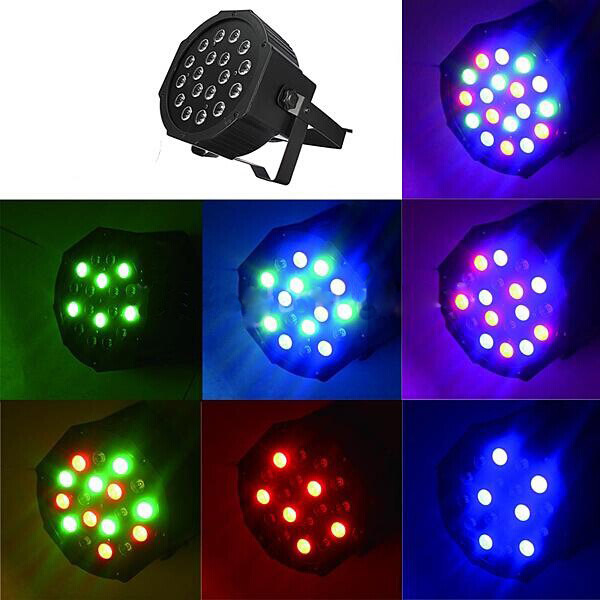 все цены на 20pcs/lot18*3W Led Flat/slim Par Led Stage Light RGB LED Par party Light disco With DMX512 Par Led 3w DJ light Equipments by DHL
