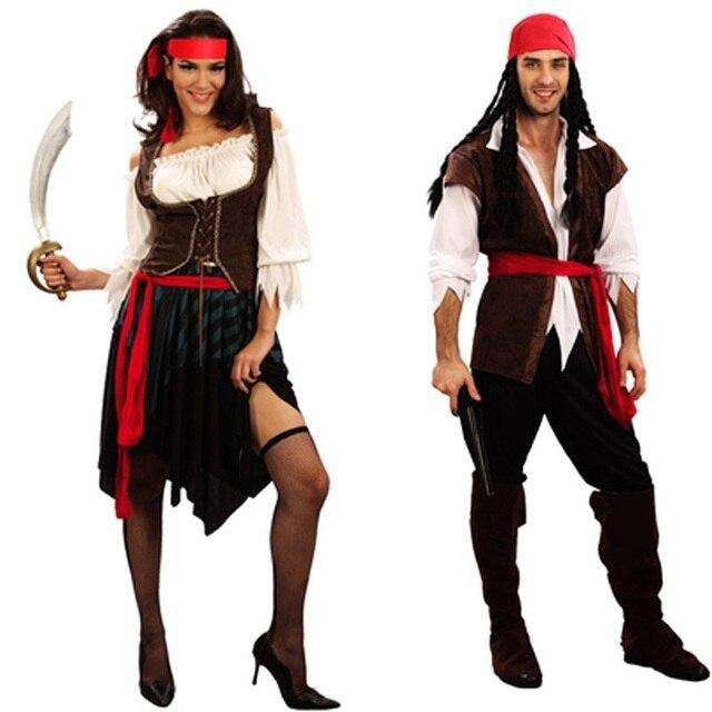 Capitano pirati dei caraibi pirati dei caraibi jack sparrow costume di  halloween per adulti uomini bambini 989f58e38e32