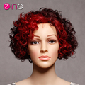Red Curly Wig Afro Kinky Curly Synthetic Wigs For Black Women Perruque Synthetic Women Cheap Cosplay Wigs For Women Synthetic