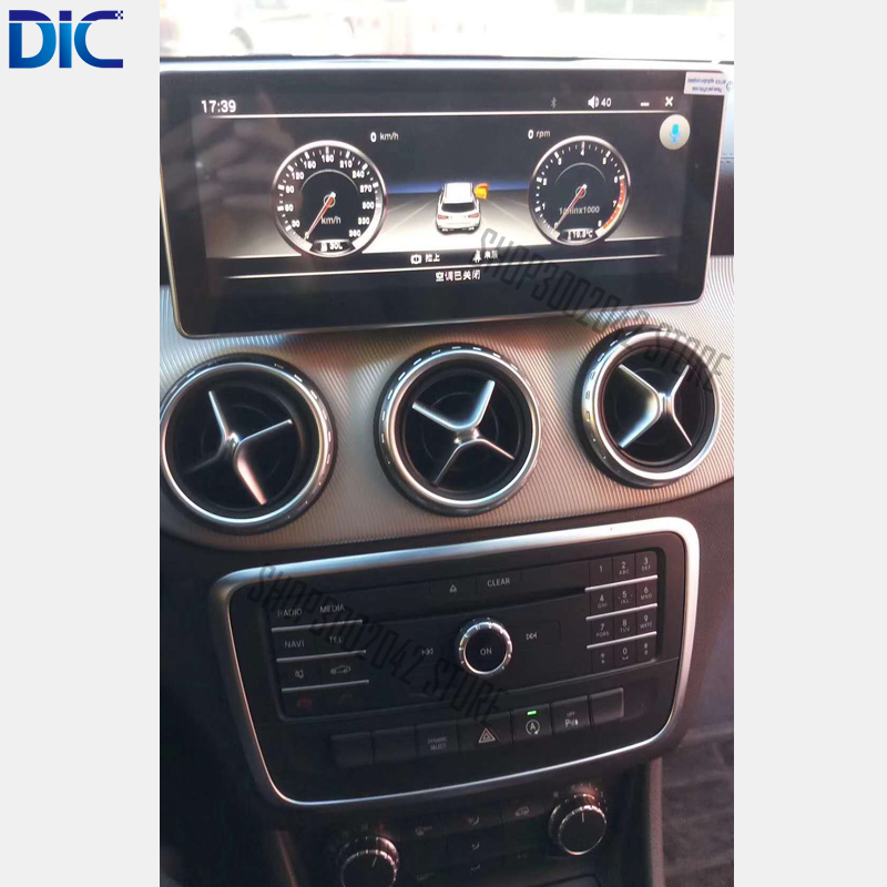 DLC 6.0 Android system 10.25 inch navigation car player gps Radio steering wheel wifi mp3 For Benz 2015 2017 CLA GLA 200 220 260
