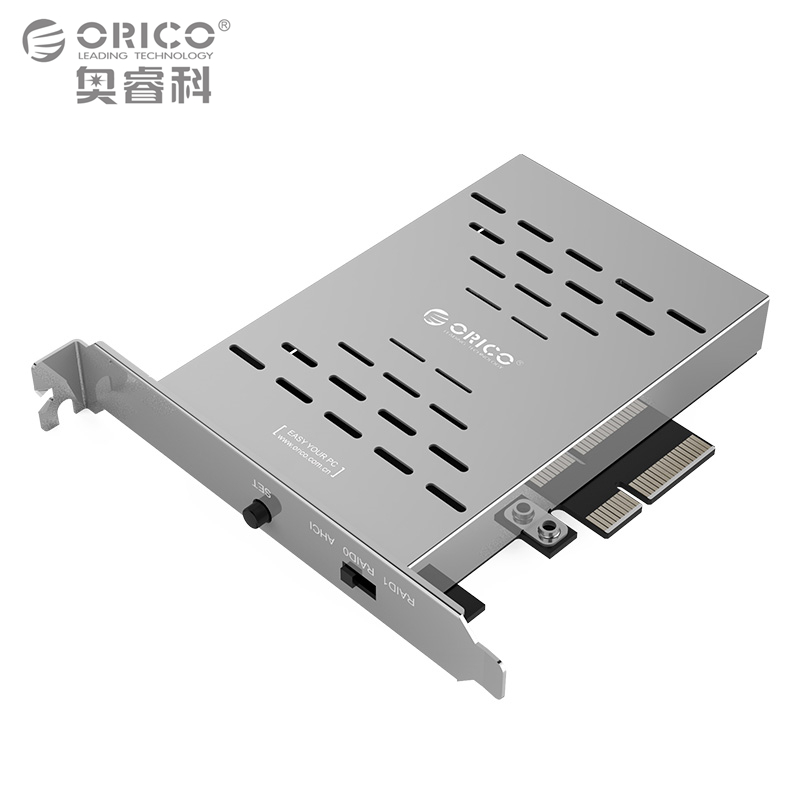 ORICO Desktop Disk Array Card PCI-E M.2 SSD Stainless Steel High-speed Raid Hard Drive Expansion Card Raid Controller