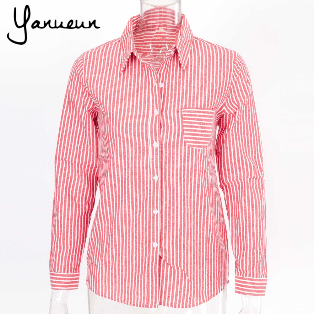 Yanueun formal blouses long sleeve button down women 39 s for Womens patterned button down shirts