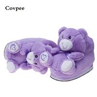 Australia Lavender Bear Plush Slippers Cute Cartoon Winter Warm Shoes 2106 New Arrival Free Shipping Ctx12