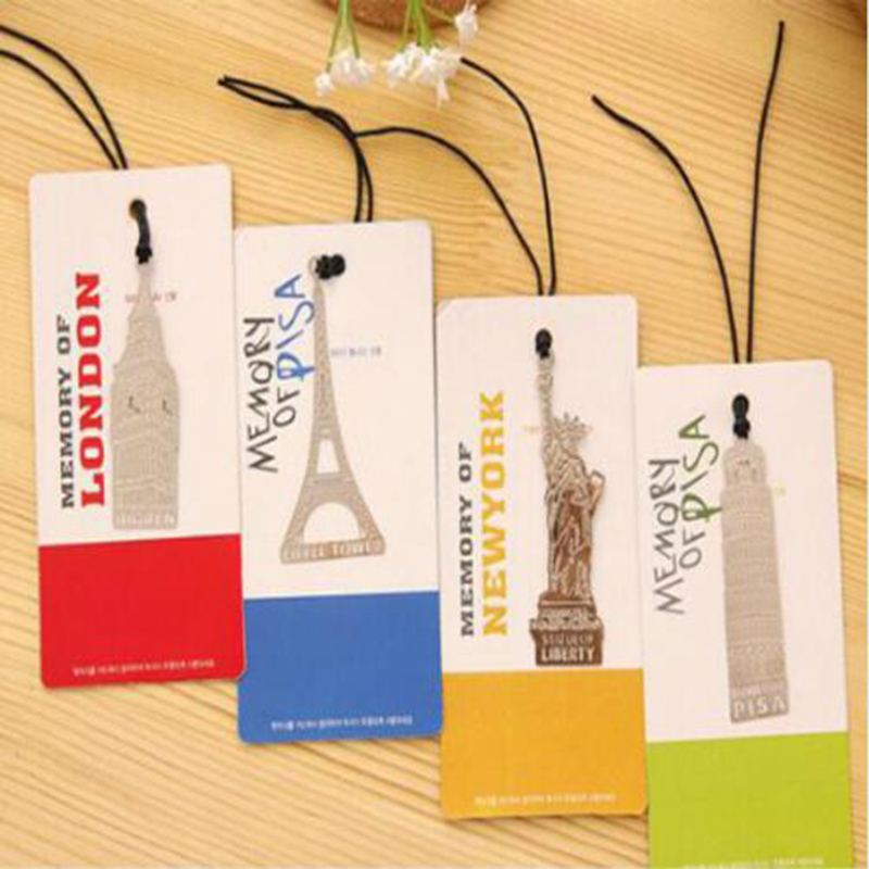 Metal Bookmarks London Elizabeth Eiffel Tower Statue Of Liberty Book Marking Books Metal Bookmarks Paper Clips Office Supplies