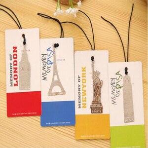 Signets en métal londres Elizabeth tour Eiffel Statue de la liberté livre marquage livres signets en métal trombones fournitures de bureau