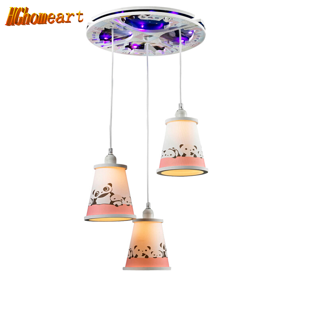 Kids 3 Head Led Ceiling Lights Bedroom Living Room E27 110V-220V Children Home Decor Lights Lustre Lighting Fixtures Ceiling