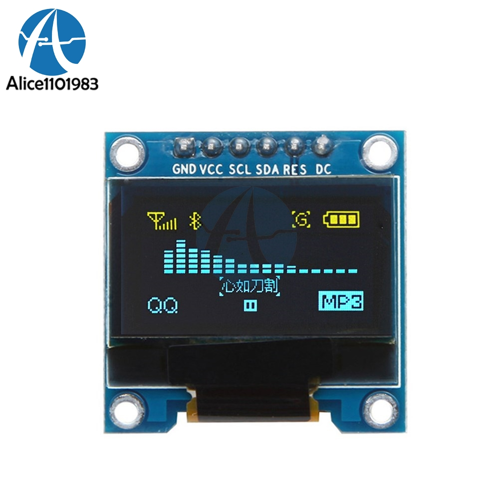 SSD136 0.96 Inch 6Pin 12864 SPI IIC I2C Digital OLED LCD Display Module 0.96'' Board For Arduino 51 SMT32 Drive Yellow Blue