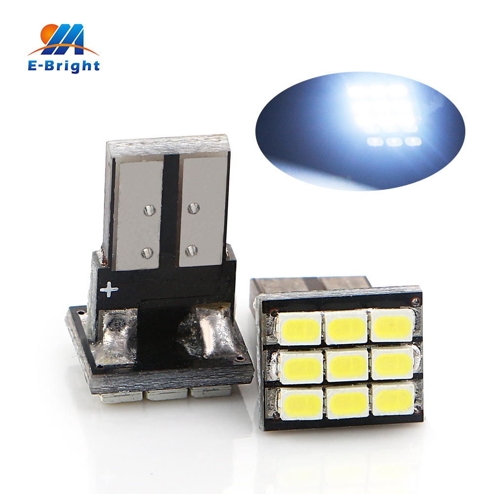 Supper! 1000 Pieces T10 PCB 1206 9 SMD Car led light 12V Indication Parking bulb reading Light Led White Auto Lamp