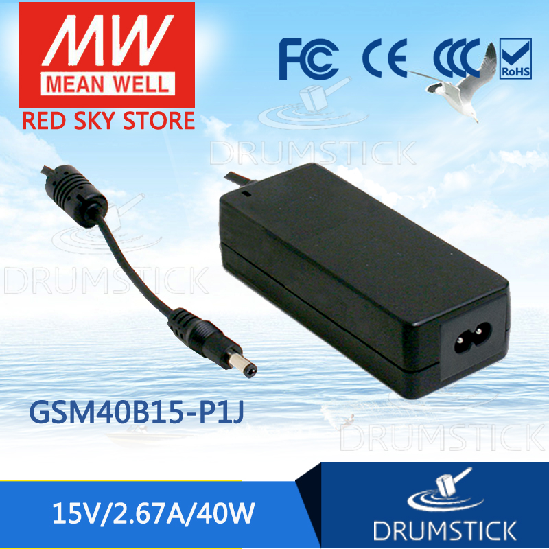 Advantages MEAN WELL GSM40B15-P1J 15V 2.67A meanwell GSM40B 15V 40W AC-DC High Reliability Medical Adaptor [mean well] original gsm60b05 p1j 5v 6a meanwell gsm60b 5v 30w ac dc high reliability medical adaptor