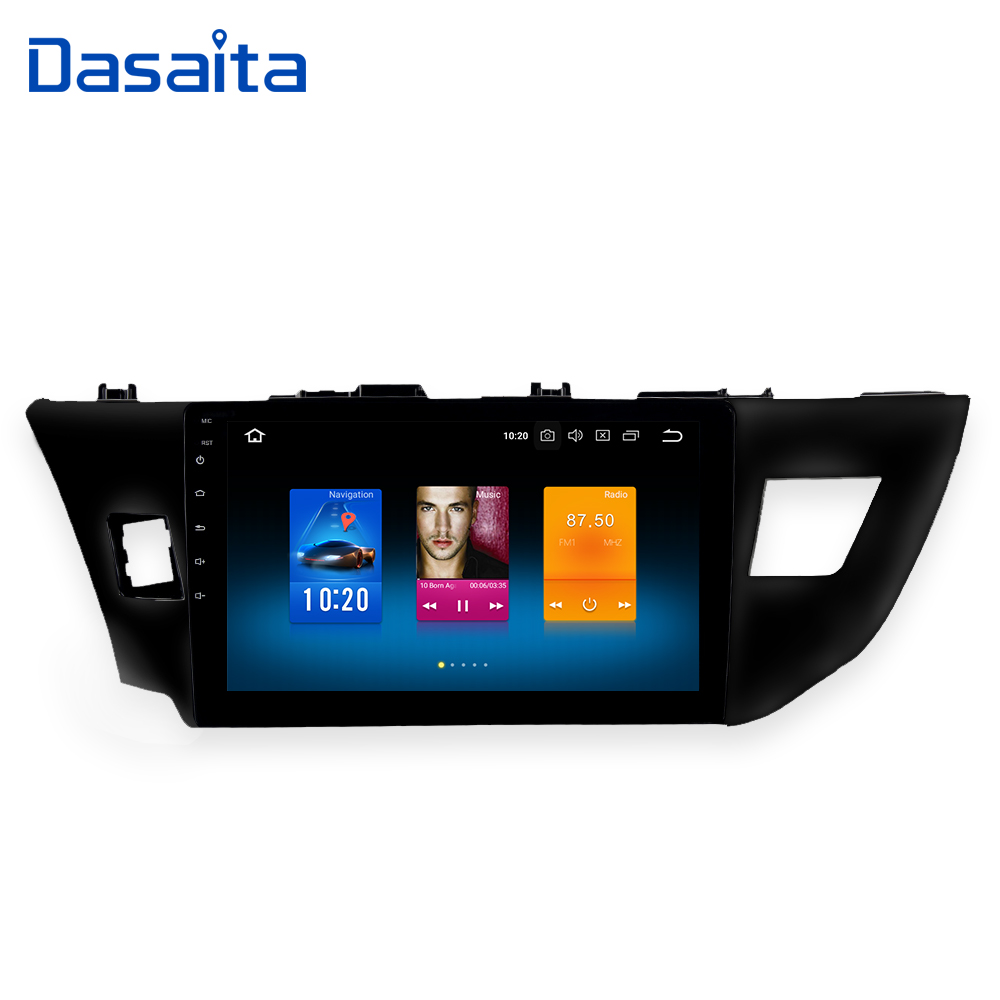 Dasaita 10.2 Android 8.0 Voiture GPS Radio Player pour Toyota Corolla 2014 2015 2016 avec Octa Core 4 gb + 32 gb Auto Stéréo Multimédia