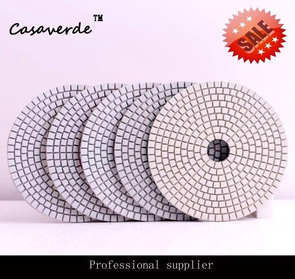 Livraison gratuite 5 pouces (125mm) tampons de polissage diamant pour marbre, polisseur de résine blanche pour pierre et granit tampon de polissage granit