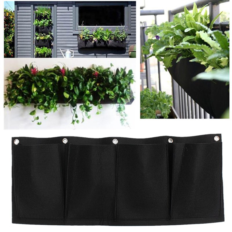 Wall Planter Outdoor Low price outdoor vertical gardening non woven hanging wall garden 4 low price outdoor vertical gardening non woven hanging wall garden 4 planting bags seedling wall planter 982 in flower pots planters from home garden on workwithnaturefo