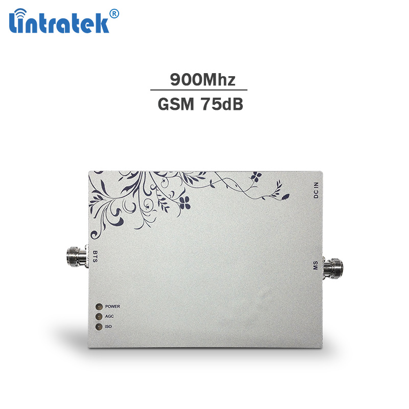 Lintratek signal booster GSM 900Mhz 75dBi AGC&MGC cellphone gsm repeater 3g network booster mobile signal amplifier only#7.3