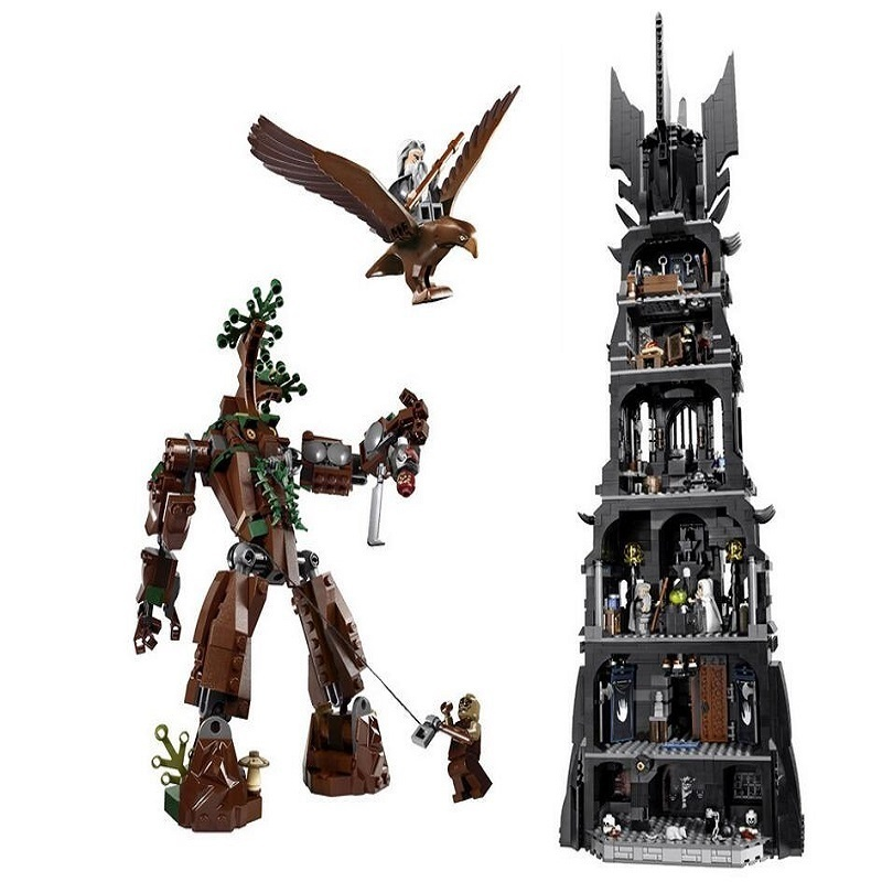 2430 Pcs Lepin 16010 Lord Of The Rings The Tower Of Orthanc Model Building Kits Blocks Bricks Educational Toys Boys Gift 10237 hot sale the hobbit lord of the rings mordor orc uruk hai aragorn rohan mirkwood elf building blocks bricks children gift toys