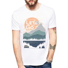 Casual Fashion printed t-shirt New Summer landscape T-Shirt