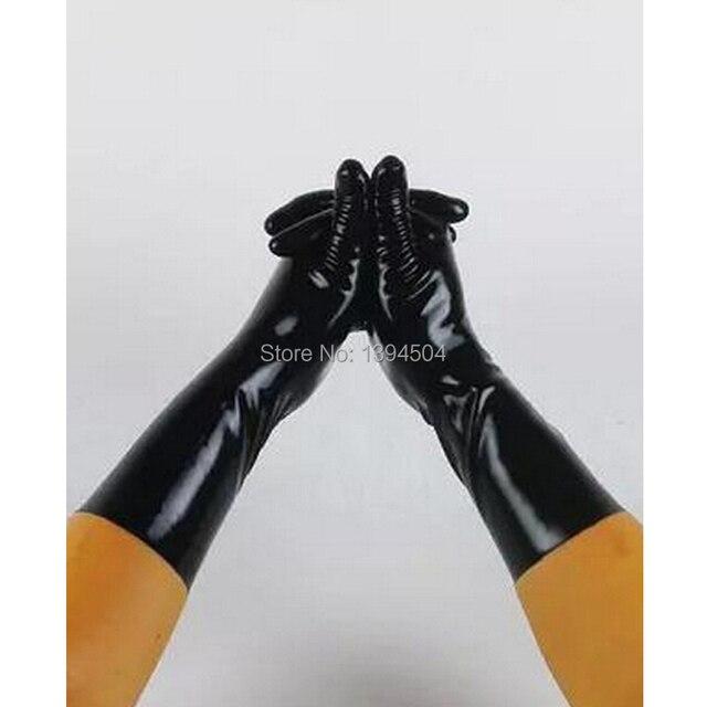 2017 Nieuw Sale Hot Sexy Mannelijke Latex Effen Kleur Korte Handschoenen Vrouwen Zentai Sexy Fetish Rood Witte Handschoenen XS XXL Gratis verzending