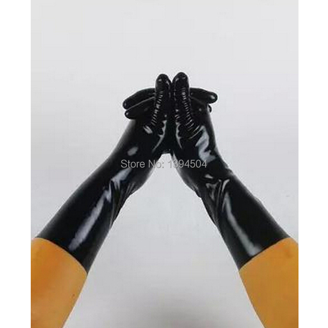 2017 new Sale Hot Sexy male Latex solid color Short Gloves Women Zentai Sexy Fetish red white gloves XS XXL Free Shipping