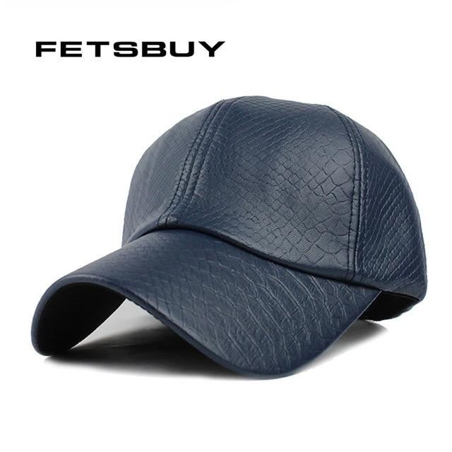 94edbf820e3ca FETSBUY Inverno QUENTE Couro PU Boné de beisebol Gorras Biker Caminhoneiro  snapback hip hop chapéus para