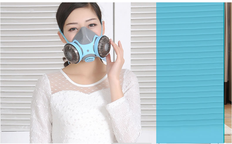 Gas Dust Masks Female Home Use Anti Methanal Smoke Pm2.5 Protective Respirator Mask Painting Spraying Facepiece Industrial ccgk 6200 7 piece suit respirator gas mask dust proof anti fog and haze anti formaldehyde spraying face respirator masks 6001