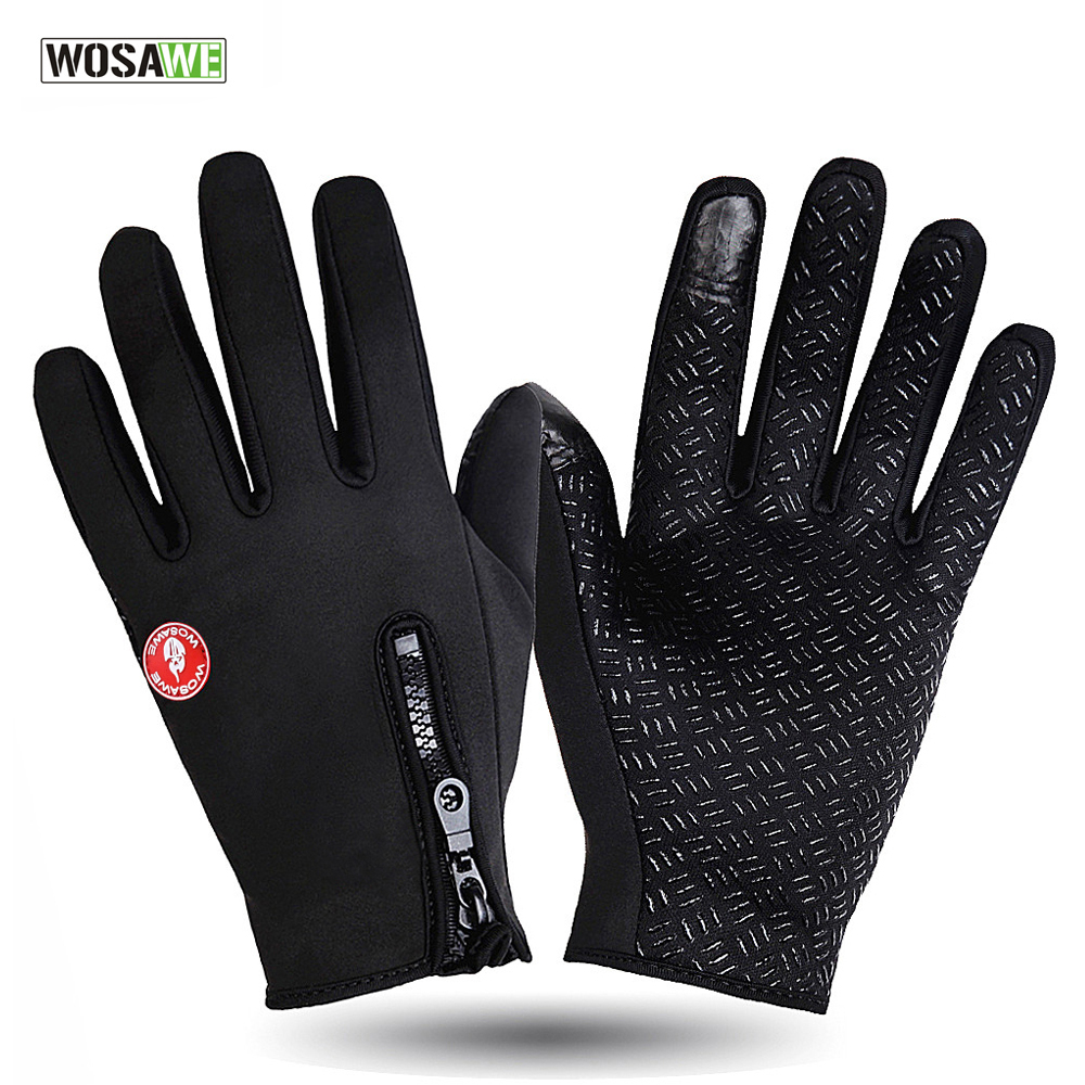 WOSAWE Windstopper Outdoor Sports font b Skiing b font Touch Screen font b Glove b font