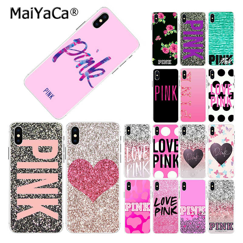 MaiYaCa Heißer Net LIEBE ROSA Mode Rosa Candy lustige Mode telefon fall für iphone 11 pro 8 7 66S plus X 10 5S SE XR XS XS MAX