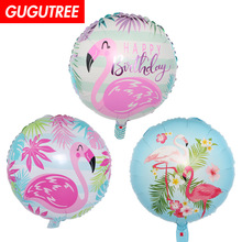 Decoration 18inch Flamingo Foil 10 Pieces Balloons Wedding Event Christmas Halloween Festival Birthday Party HY-232