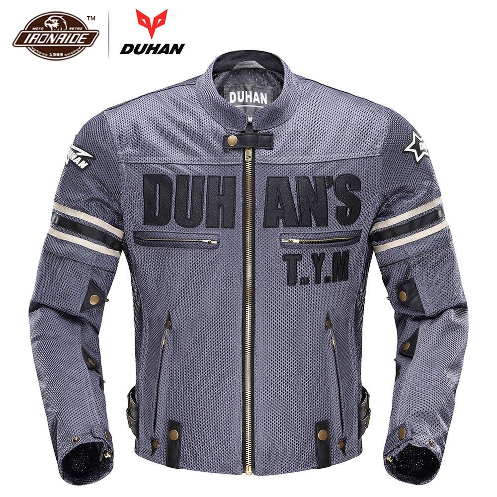 DUHAN Vintage Motorcycle Jacket მამაკაცის - მოტოციკლეტის ნაწილები და აქსესუარები