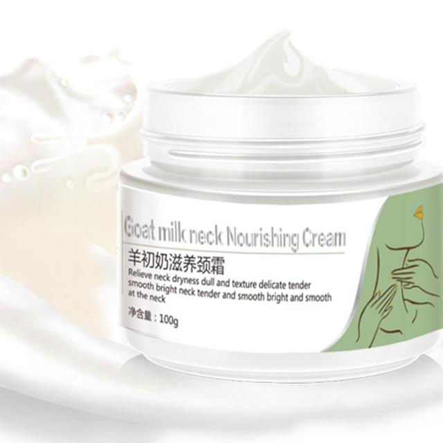 Goat Milk Neck Cream Skin Care Anti Wrinkle Anti Aging Whitening