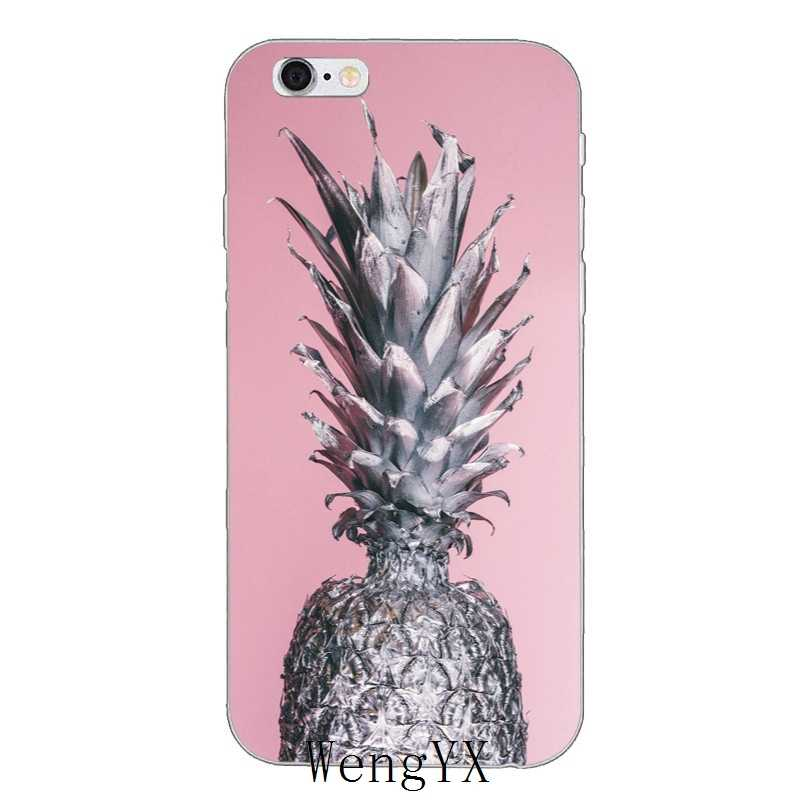 bfccef5051e2 ... colorful pink gold Pineapple Slim silicone Soft phone case For Xiaomi  Mi 6 A1 5 5s