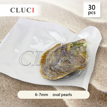 Оптовая торговля 30 шт. 6-7 мм пресной воды овальные перл в ойстер с вакуумной упаковке