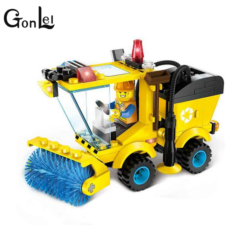 GonLeI ENLIGHTEN City Series Sweeper Truck Building Blocks City Construction Blocks Toy for Children Boys 1101