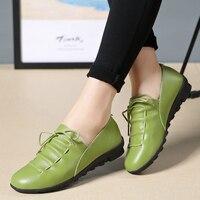 Women shoes leather breathable non slip flats women's casual shoes xk18