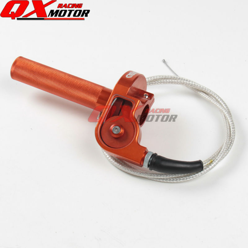 CNC Aluminum Acerbs Throttle Grip Quick Twister+Throttle Cable For CRF50 70 110 IRBIS 125 250 Dirt Bike Motorcycle Free Shipping