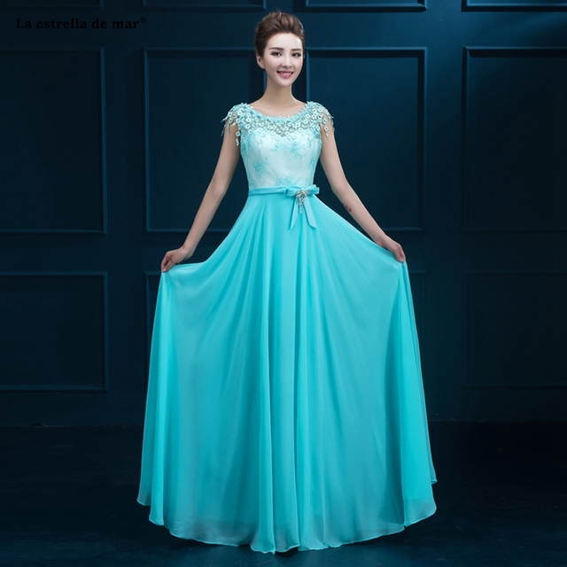 fc3a9dfe91b Robe demoiselle d honneur new lace and chiffon cap sleeve a Line turquoise  royal blue red mint green bridesmaid dresses cheaper