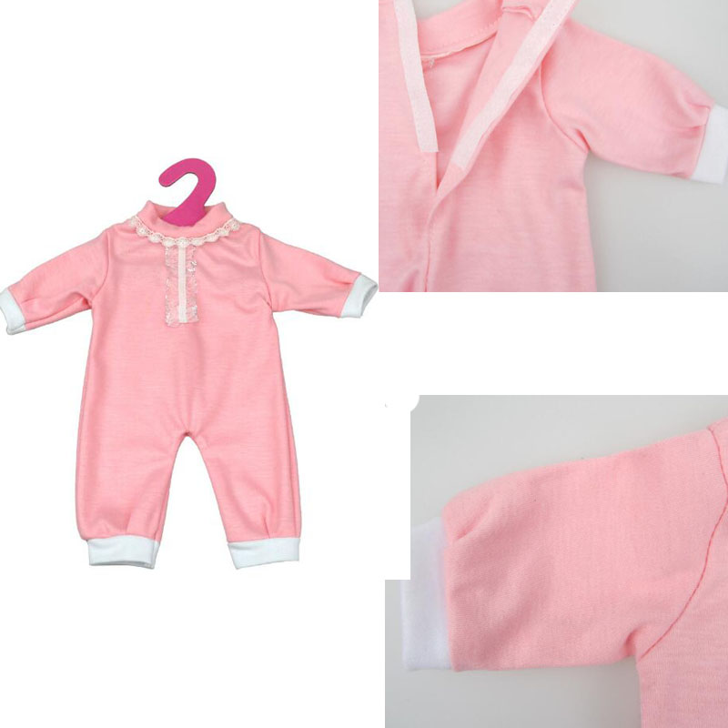 Baby Pink Jumpsuits Doll Pajamas Doll Clothes Fits Baby Born 43cm Zapf Doll & More 18 inch American Girl Doll rose christmas gift 18 inch american girl doll swim clothes dress also fit for 43cm baby born zapf dolls
