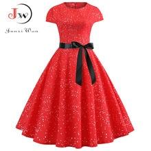 Red Party Dress Women Elegant Short Sleeve Floral Print Vintage Dresses Robe Femme 2019 Summer New Midi Bodycon Dress Plus Size