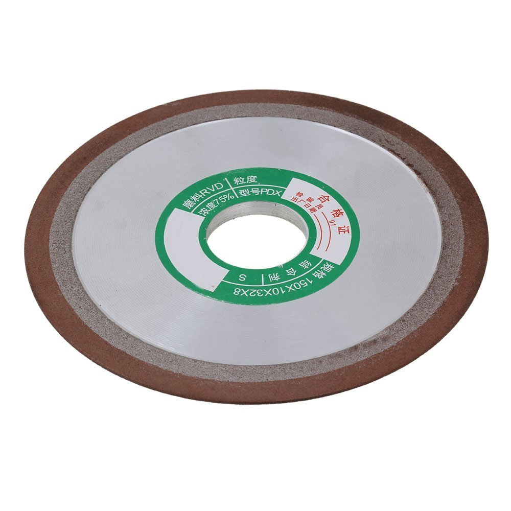 180# Grit 150x10x32mm One Side Tapered Silver Diamond Aluminum Resin Grinder Cutter Grinding Wheel