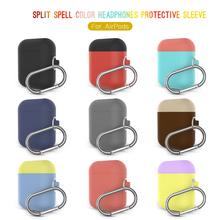 Silicone Cover for Airpods Case Shockproof Case for Airpods Charging Box 2mm Ultra thin Cover for Air Pods Splite Case with Hook