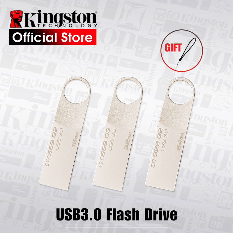 Kingston USB Flash Drive Pendrive Stick DTSE9G2 8GB 16GB 32GB 64GB 128GB 3.0 Pen Drive Mental Ring Memory Flash Memoria usb flash drive 8gb kingston datatraveler locker g3 dtlpg3 8gb