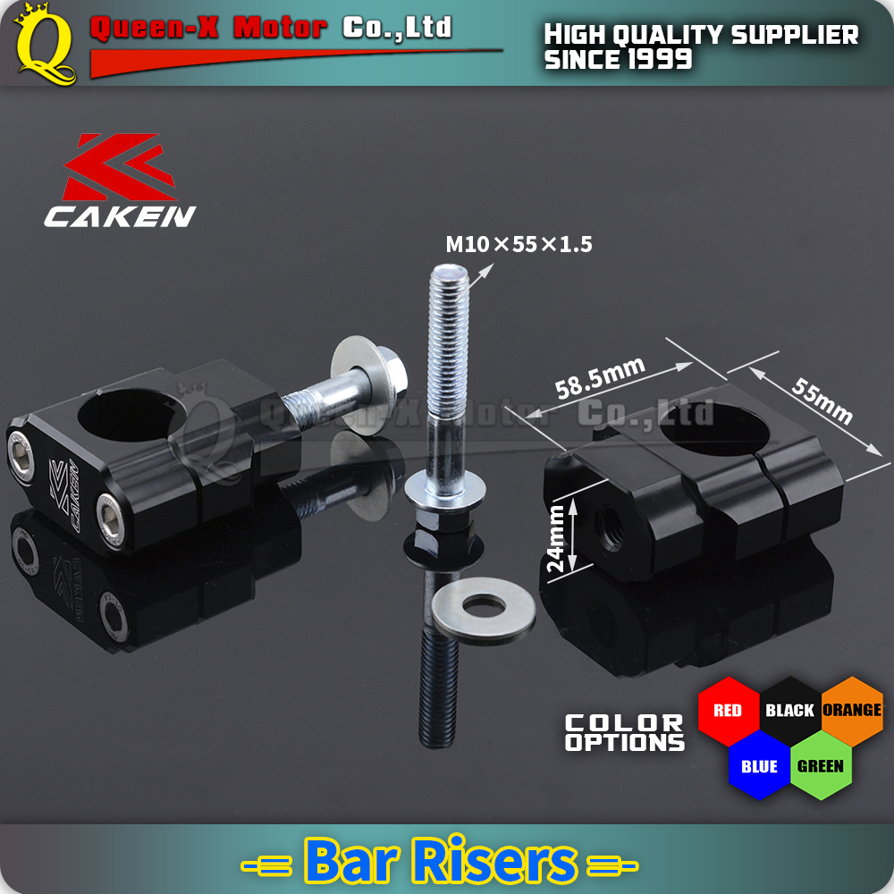 "Bar Clamp Risers 7//8/"" to 11//8""  Pit Dirt Bike ATV Alloy 11//8""  Handlebar Bar"
