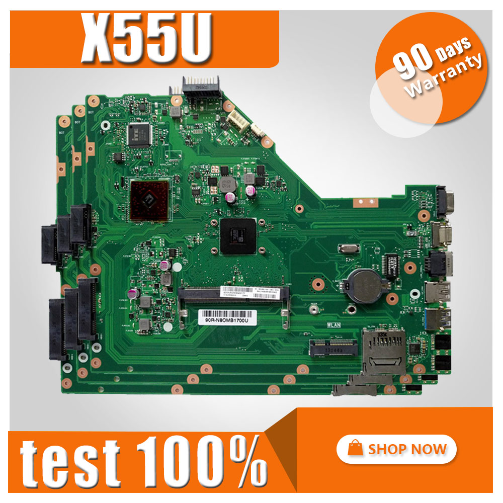 X55U Motherboard REV 1.4 For ASUS X55U A55U Laptop motherboard X55U Mainboard X55U Motherboard test 100% OK