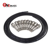 DIY Guitar Pedal Patch Cable Solder free Pedal Board Copper Cable Kit 10ft 10 Strait Audio 6.35 Plugs For Effect Pedal