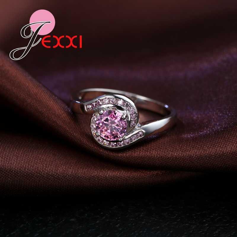 Baru 925 Sterling Silver Cincin Pertunangan untuk Wanita/Anak Perempuan dengan Kualitas CZ Fashion Perhiasan Grosir