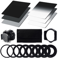 ND Filter Kit ND2 ND4 ND8 Square Filter + Holder + Adapters for Cokin P