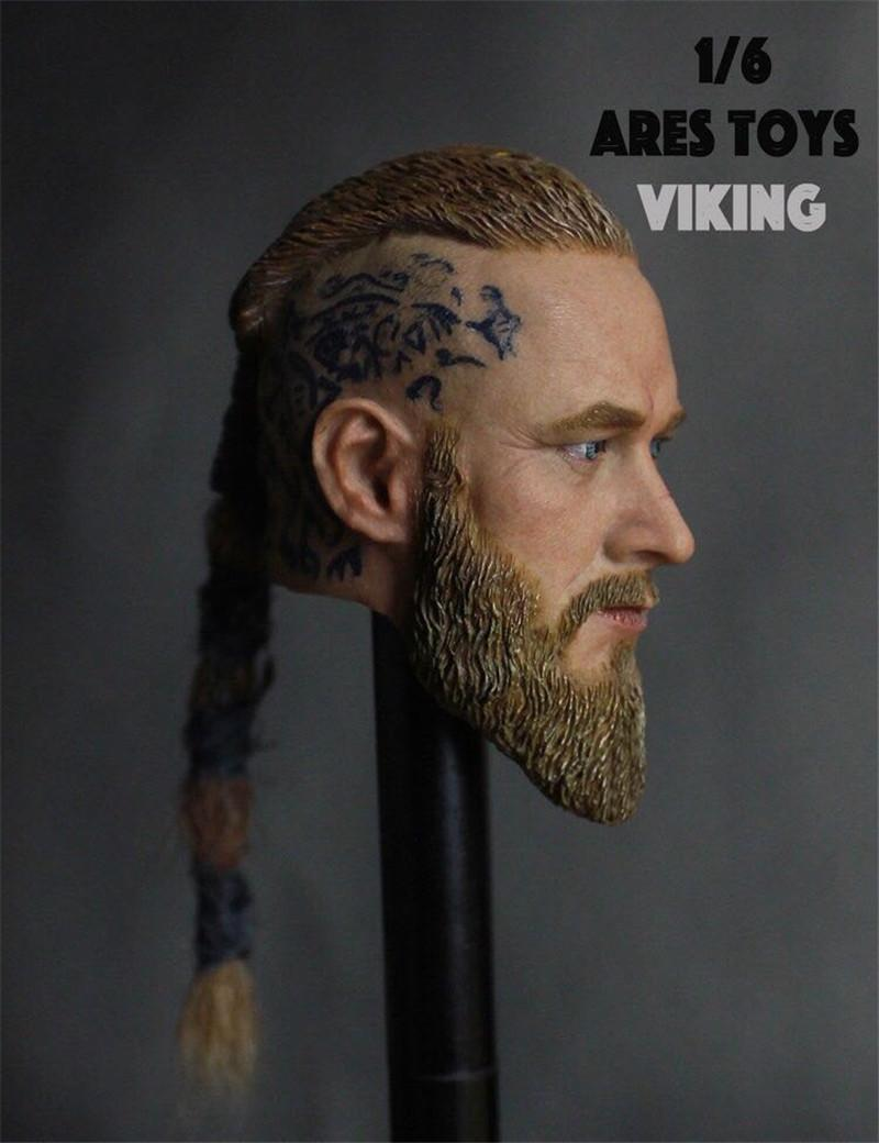 """Ares Toys 1//6 Scale Viking Male Head Sculpt Fit for 12/"""" Action Figure Body"""