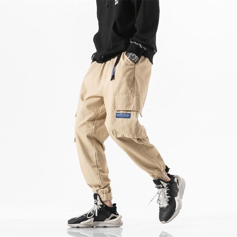 Kaki Cargo Joggers pantalon pour hommes poche militaire classique Streetwear mode Harem Baggy sport casual hommes survêtement pantalon tactique